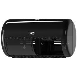 TORK Toilettenpapier-Spender, für Kleinrollen, schwarz