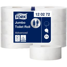 TORK Großrollen-Toilettenpapier Jumbo, 2-lagig, weiß, 360 m