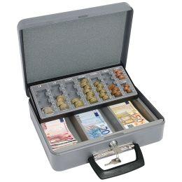 WEDO Geldzählkassette Standard, grau, aus Stahlblech