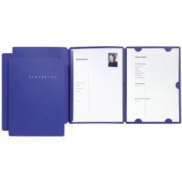 PAGNA Bewerbungsmappe Select, DIN A4, aus Karton, blau