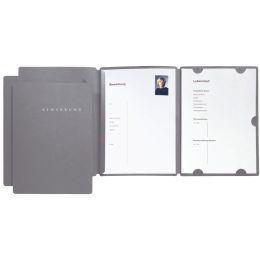 PAGNA Bewerbungsmappe Select, DIN A4, aus Karton, grau