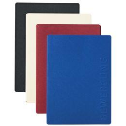 PAGNA Bewerbungsmappe Solo, DIN A4, aus Karton, blau