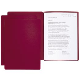 PAGNA Präsentations- / Bewerbungsmappe Star, DIN A4, rot