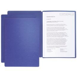 PAGNA Präsentations- / Bewerbungsmappe Star, DIN A4, blau