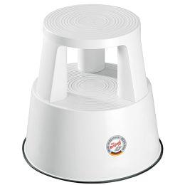 WEDO Rollhocker, aus Kunststoff, weiß / RAL 9010