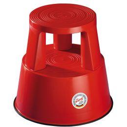 WEDO Rollhocker, aus Kunststoff, rot / RAL 3000