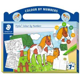 STAEDTLER Malset triplus Malen nach Zahlen Pferd