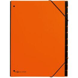PAGNA Pultordner Trend, DIN A4, 12 Fächer, orange