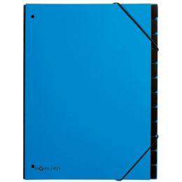 PAGNA Pultordner Trend, DIN A4, 12 Fächer, hellblau