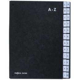 PAGNA Pultordner, DIN A4, 24 Fächer, A - Z, schwarz