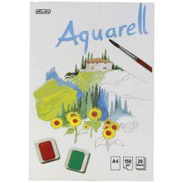 herlitz Aquarell-Block, 210 x 298 mm, Inhalt: 20 Blatt