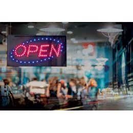 Securit LED-Reklamentafel OPEN, 2 aufleuchtende Farben