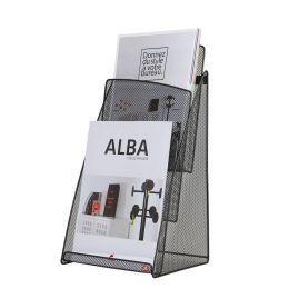 ALBA Tisch-Prospekthalter MESHPREZA4, DIN A4, Drahtmetall