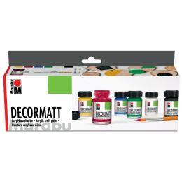 Marabu Acrylfarbe Decormatt, Starter Set