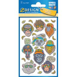 AVERY Zweckform ZDesign KIDS Puffy-Sticker Affe
