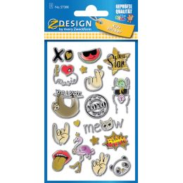 AVERY Zweckform ZDesign KIDS Puffy-Sticker Symbole