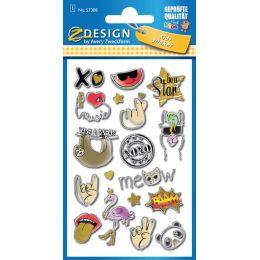 AVERY Zweckform ZDesign KIDS Puffy-Sticker Symbole