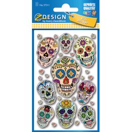 AVERY Zweckform ZDesign KIDS Puffy-Sticker Totenkopf