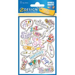 AVERY Zweckform ZDesign KIDS Puffy-Sticker Message