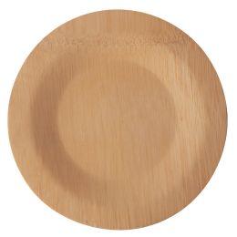 PAPSTAR Bambus-Teller pure, ungeteilt, 180 mm, 10er