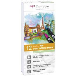 Tombow Doppelfasermaler DUAL BRUSH PEN ABT, Pastellfarben