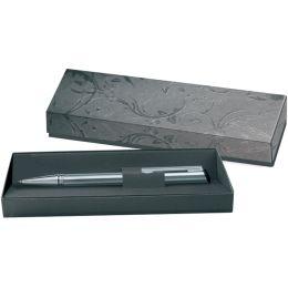 Heri Stempel-Kugelschreiber 6221, silber / schwarz