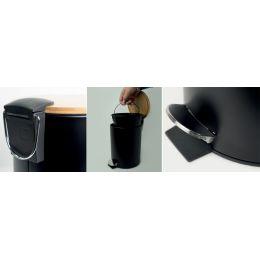 helit Tret-Abfallbehälter the bamboo, 3 Liter, schwarz
