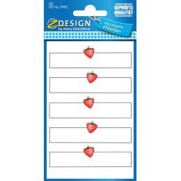 AVERY Zweckform ZDesign Haushaltsetiketten Erdbeere