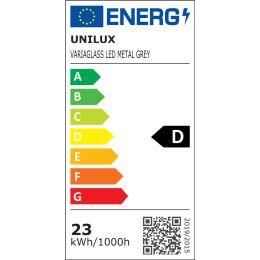 unilux Energiesparleuchte VARIAGLASS, Farbe: metallgrau