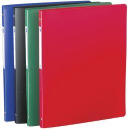 ELBA Ringbuch Standard, 4 Ring-Reißmechanik, blau