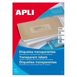 agipa Adress-Etiketten, 105 x 37 mm, transluzent