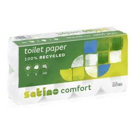 satino by wepa Toilettenpapier Comfort, 3-lagig, hochweiá
