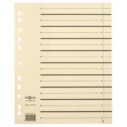 PAGNA Trennblätter, DIN A4, Kraftkarton, beige