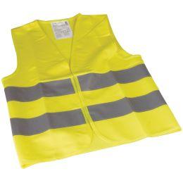 cartrend Kinder-Pannenweste/Warnweste, DIN EN1150, gelb