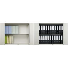 PLUS JAPAN Archivierungsordner ZEROMAX, A4 breit, grau
