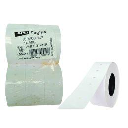 agipa Etiketten für Preisauszeichner, 21 x 12 mm, weiß
