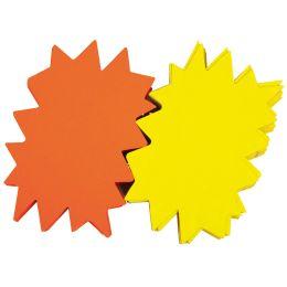 agipa Signal-Etiketten Stern, gelb/orange, 120 x 160 mm