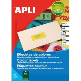 agipa Adress-Etiketten, 105 x 148,5 mm, gelb