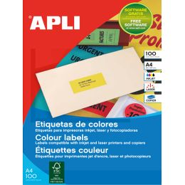 agipa Adress-Etiketten, 210 x 297 mm, neongelb