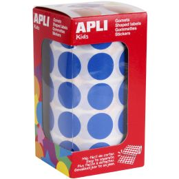 agipa apli Kids Sticker Creative Rund, auf Rolle, blau