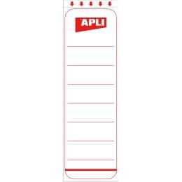 agipa Ordnerrücken-Etiketten, kurz/breit, weiß