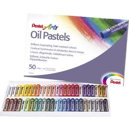 PentelArts Ölpastellkreide PHN4, 50er Kunststoff-Etui
