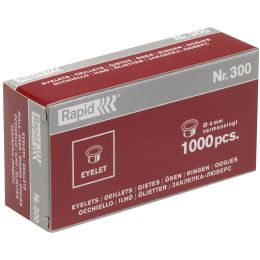 Rapid Ösen Nr. 300, vermessingt, Durchmesser: 4 mm