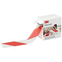 3M Absperrband, rot / weiß, nicht klebend, 70 mm x 100 m