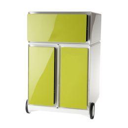 PAPERFLOW Rollcontainer easyBox, 1 Schub, weiß / grün