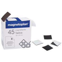 magnetoplan Takkis 30 x 20 mm, selbstklebend, schwarz