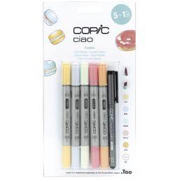 COPIC Hobbymarker ciao 5+1 Set, Pastellfarben