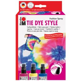 Marabu Textilsprühfarbe Fashion-Spray, Set TIE DYE STYLE
