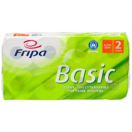 Fripa Toilettenpapier Basic, 2-lagig, weiß