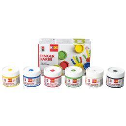 Marabu KiDS Fingerfarbe, 100 ml, 6er Set
